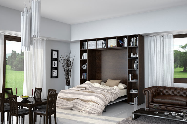 letto-a-scomparsa-nella-libreria-soggiorno